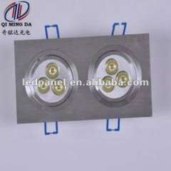6W square shape with high brightness LED ceiling light