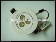 Battery powered 3W hotel lamp with plastic ceiling light covers