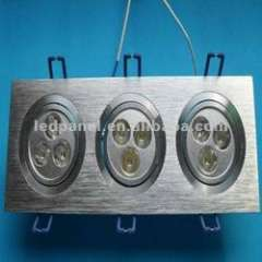 3*3W Square LED recessed down Light\LED Square Light