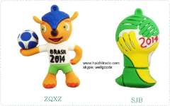 Top quality world cup environmental material flash drive usb stick