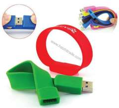 Silicone Bracelet USB Flash Drive With 8G
