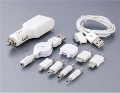 AJM168 Universal Car Charger for iPhone, iPod (White)