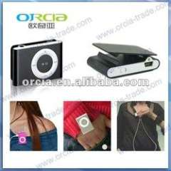 mini clip mp3 player with micro sd card with FM