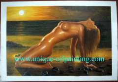 oil painting, nude oil painting