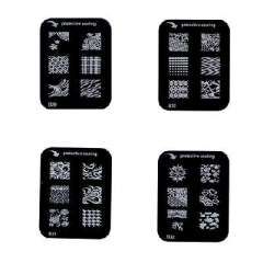 Authentic quality templates | Drawing nail printing stamp / printing plate / Sport Series | B Series (B25-B32)