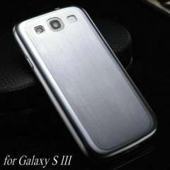 0.3MM Thin Brushed Aluminum Hard Case for samsung Galaxy S3 SIII Mesh Metal Back Cover for Galaxy I9300, Free Screen Film