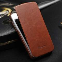 Luxury Vintage PU Leather Flip Case for iphone 4 4S 4G Phone Bag Cover for iPhone4 Original FASHION Logo, Free Screen Protecter