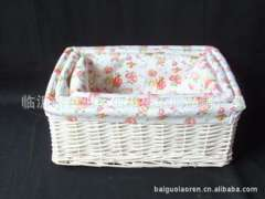 Wholesale ' willow crafts ' hand-woven ' sets of three storage baskets '