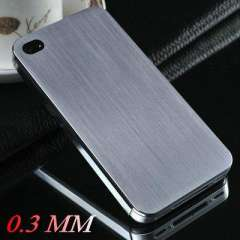Hot 0.3mm Thin Brushed Aluminum case for iphone 4 4s New Arrival Hard back cover for iphone 4g Mesh metal, 2 styles