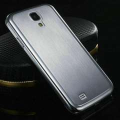 0.5MM Thin Brushed Aluminum Hard Phone case for Samsung Galaxy S4 i9500 SIV Luxury Metal Back Cover Free Screen Film