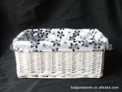 Factory direct ' Willow ' straw ' crafts ' hand-woven ' white original article accommodating basket '