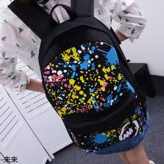 2013 bag backpack student school bag doodle casual travel bag