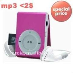 cheapest clip mp3 player with free logo