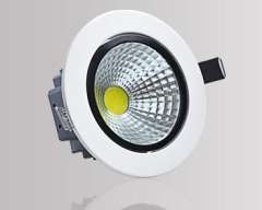 AC90~265V warm white\White light led downlight lamp, 3W COB led bulb lamp, with retail package