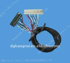 1.0mm amp lvds cable wire harness assembly