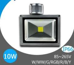 10W LED Floodlight PIR Motion Sensor Outdoor Motion Sensor Light, led sensor lights 10W 85V-265V Freeshipping!