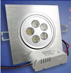 Hot selling !! Dimmable 3w 5w led down lamp, 270lm, 450lm CE & ROHS, Square high power light, 2 years warranty Dimmable lamp