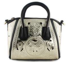 2013 women's spring handbag aimali vintage cutout carved zipper handle handbag messenger bag