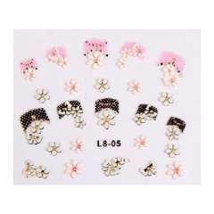 The latest nail supplies | 3d decals | 3d nail decals | 3D Nail Stickers | 3D stickers | L8 series
