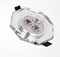 Free shipping + 5pcs\Lot + Silvery crystal led ceiling light, crystal led recessed down light, dimmable led ceiling light