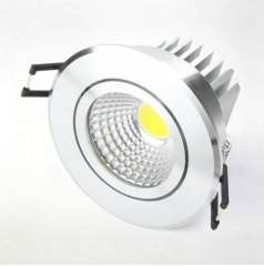 Hot Sale AC85~265V 5W, 7W High Lumens COB LED Downlight W LED Light with, Epistar LED Chip, white