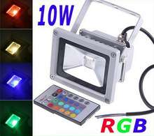 LED lamp | 10W RGB LED Flood Light Waterproof Floodlight Spotlights Outdoor lighting AC85~265V With Remote Controller