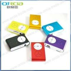mini clip mp3 player with built in speaker