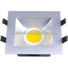 5W 10W cast-aluminum + sliver COB square downlight 130mm
