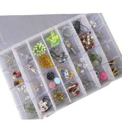 Open Xin Bao transparent box 28 oversized grid can be assembled DIY jewelry box / storage box