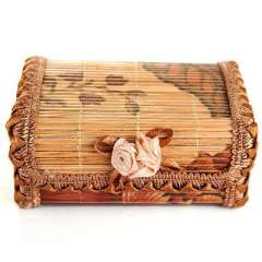 Bamboo Floral rectangular jewelry box / storage box | Random Color