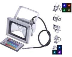 Wholesale Price 1 Pcs 10W LED RGB Color Spotlight Flood Light Garden Lamp 85-265V Waterproof with Remoter