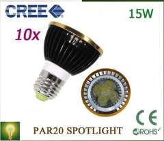 Par20 Led Lamp E27\GU10\E14\MR16\B22 Spotlight Par 20 4X3W 12W 5*3W 15W Dimmable Led Lighting warm\cool\white