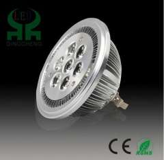 Free shipping 7W led bulb AR111 G53 base 7W high power led high brightness for indoor lighting 100-240V AC RoHS CE