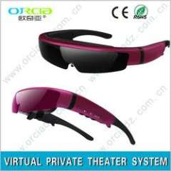 Personal Video Glasses\ Modern and stylish portable video goggle with two li-batteries