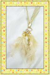 Discovering yellow feather crystal necklace
