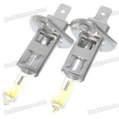 H1 55W 3000K Super Bright Car Yellow Light Bulbs (Pair\DC 12V)