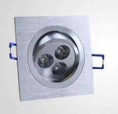 Square 3W high power warm white.white indoor decoration led ceiling downlights