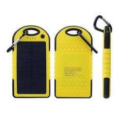 Waterproof 5000mah Solar Power Bank Mobile Phone Charger External Battery for All Mobile Devices