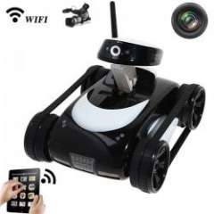 Rover App-Controlled Wireless i-Spy Tank with Camera for iPhone\iPod Touch and iPad - Black
