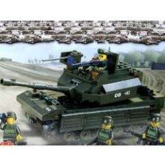 NO.M38-B6500 Plastic Building Blocks Main Battle Tank Educational Funny Toy for Children