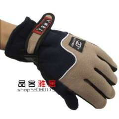 Male gloves outdoor skiing double faced fleece gloves thermal gloves free shipping