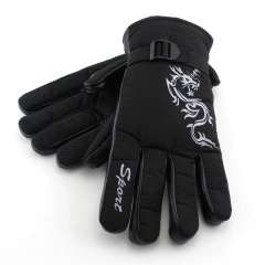 Snlak d5207 safety gloves thickening skiing nylon artificial fleece gloves free shipping