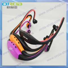 Head-mounted MP3 Player | Sports mp3 Running MP3 | Card Headphone style sport mp3 MP3 wholesale
