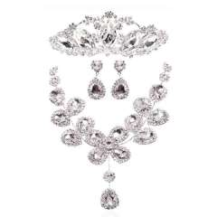 Urged the bride crystal necklace chain sets accessories married chain sets accessories piece set