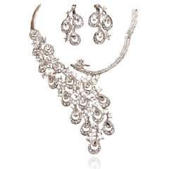 Urged sets chain bride marriage accessories the bride necklace the bride accessories set rhinestone necklace 156