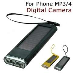 Solar Charger LED flashlight Backup Battery power Lighting Play Charger