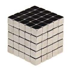125Pcs Creative 5mm Magnetic Blocks Cubes Building Magnet Toys with Metal Box Packed - Silver