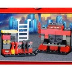 NO.M38-B0275 Plastic Building Blocks Emergency Fire Station Educational Funny Toy for Children