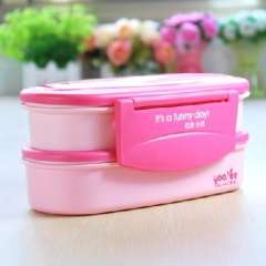 Yau Yue double Japanese style lunch box ( 371 ) random color