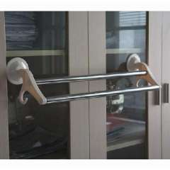 Strong suction cups double hook stainless steel suction wall hung double towel
